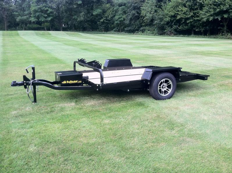 Motorcycle Loading Ramp >> Drop Deck and Tilt Trailers Available | EZ Ramp Trailers ...